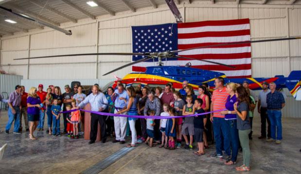 Rico Aviation Press Event Dalhart ribbon cutting
