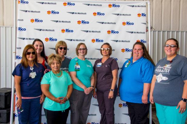 Rico Aviation Press Event Dalhart team photo